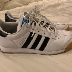 Adidas Samoa Women's 8.5 White with Black Stripes